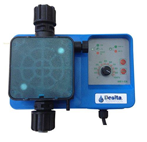 Bomba dosificadora electromagnética analógica de dosificación constante con caudal ajustable para dosificación de líquidos, modelo ME1-CA 10 l/h a 4 bar 230Vac, cabeza de polipropileno, juntas Viton