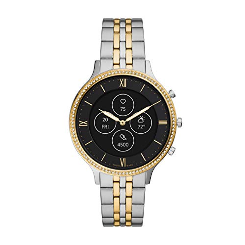 Fossil Women's Charter Stainless Steel Hybrid HR Smartwatch, Color: Two-Tone (Model: FTW7032)
