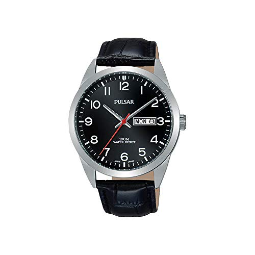 PULSAR Herren Analog Quarz Uhr mit Edelstahl Armband