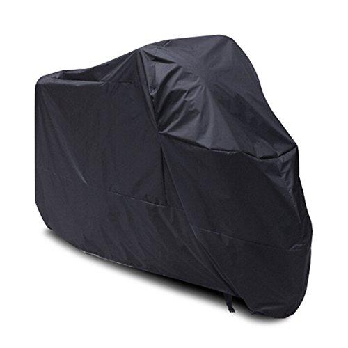 winomo schwarz wasserdicht Sun Motorrad Cover, Staub Schutzhülle 245cm lang–Größe XXL