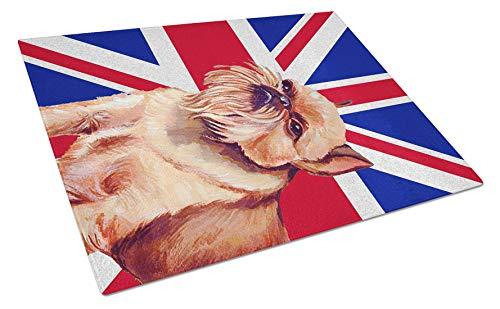 Carolines Treasures LH9023LCB Glasschneidebrett USA Amerikanische Flagge mit Brüssel Handgriffon Union Jack 12H x 16W mehrfarbig