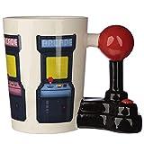 Puckator Tazza con Manico a Forma di Joystick da Gioco in Ceramica con Decalcomania Arcade