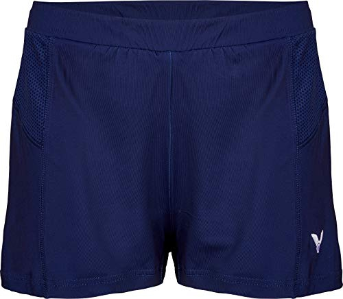 Victor R-04200 B Damen Badminton/Squash-Shorts, Marineblau
