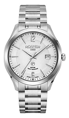 Roamer Reloj de pulsera para hombre Mechaline Pro, 41 mm, pulsera de acero inoxidable 953660 41 14 90
