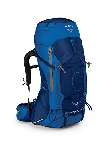 Osprey Packs Aether Ag 70 Backpacking Pack, Neptune Blue, Small