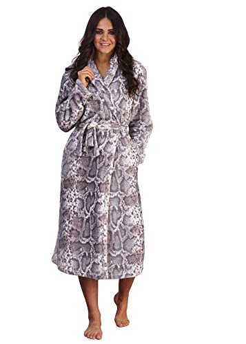 undercover lingerie Ladies Loungeable Snake Print Robe 790113 Grey Small