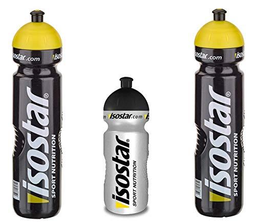 Isostar Sport Trinkflasche 500-650 ml + 1000 ml - BPA-frei - Wasserflasche für Laufen, Radfahren, Gym, Wandern - Praktischer und auslaufsicherer Push & Pull Verschluss