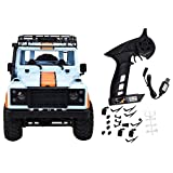 Woyisisi RC Off-Road RC Car, MN-99 2.4G 1/12 4WD Crawler Remote Control Car RTR Remote Control Car Fit for Land Rover(Blue)