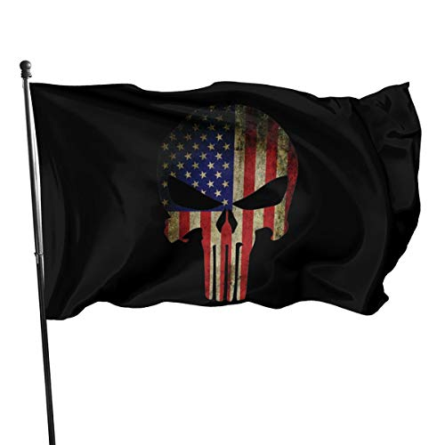 Punisher Vintage American Flag Flags 3x5 Outdoor Indoor Banner Flag House Garden Decor