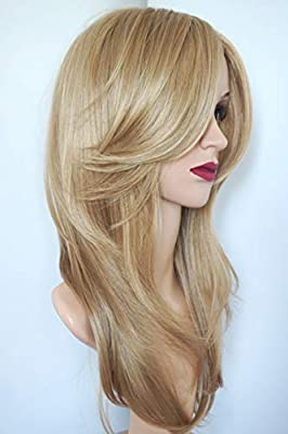 wigbuy Long Layered Shoulder Length Synthetic Hair Fiber Highlight Multicolor for Women