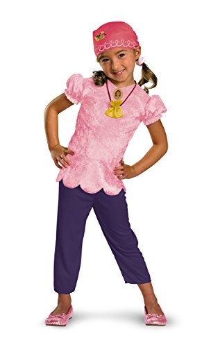 Disney Jake And The Neverland Pirates Izzy Classic Costume, Pink/Purple, Child size Large 4-6X