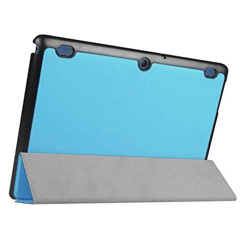 Lobwerk Tasche für Lenovo Tab 2 A10-30 A10-70F / Tab 10 TB-X103F 10.1 Zoll Schutz Hülle Flip Tablet Cover Case TB2-X30 F/L (Hellblau)