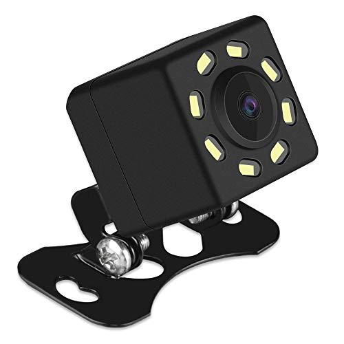 AUMUME Auto Rückfahrkamera Universal Superweitwinkelkamera mit 8 LED Nachtsicht, Wasserdicht Mini Auto Kamera Einparkhilfe
