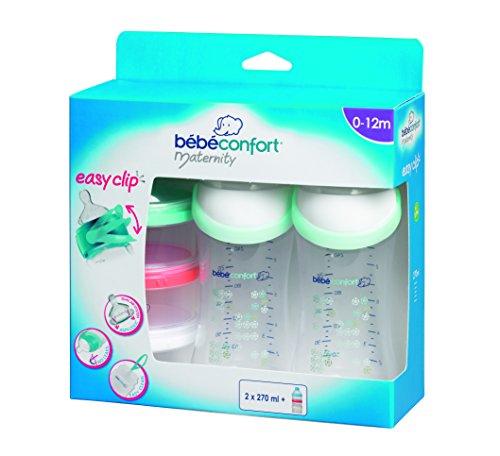 Bébé Confort - 30000947 - Biberón Easy Clip 270 ml + Dosificador Bébé Confort 0m+
