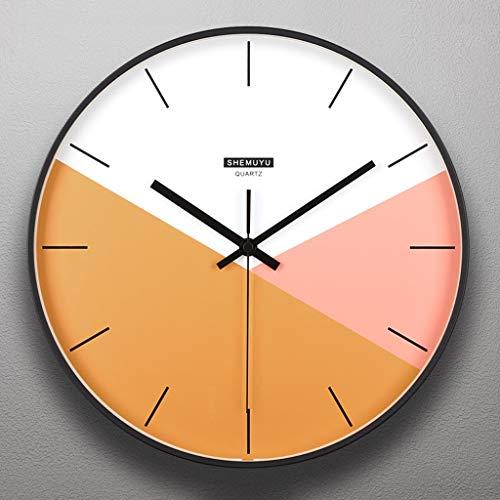 MQQ 1 2IN / 14IN Cubierta De Vidrio Relojes De Pared Creativo Metal Reloj Sin Escala Operación De Batería De Cuarzo Operación Arte Relojes Tabla Hogar Y Cocina/Sala De Estar/Oficina