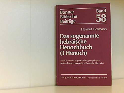 Das sogenannte hebräische Henochbuch (3 Henoch) (Bonner Biblische Beiträge 58)