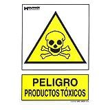 WOLFPACK LINEA PROFESIONAL 15050956 Cartel Peligro Productos Toxicos 30x21cm, Neutro