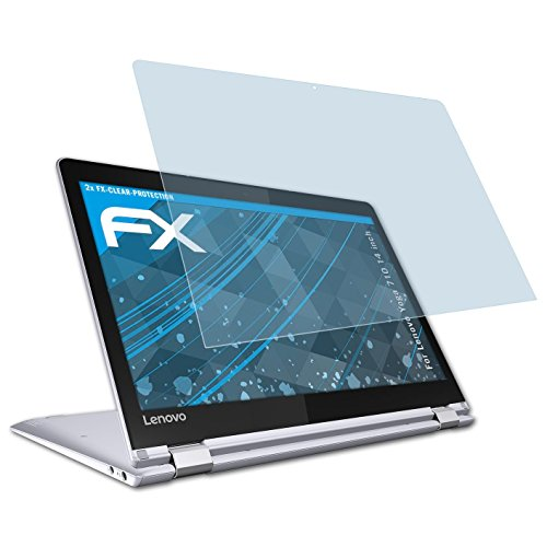 atFolix Schutzfolie kompatibel mit Lenovo Yoga 710 14 inch Folie, ultraklare FX Displayschutzfolie (2X)
