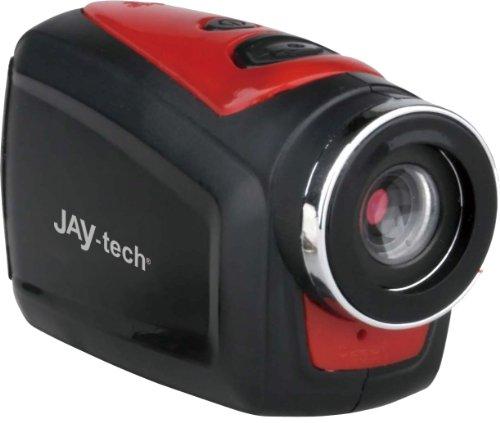 Jaytech DVH108 HD Action Cam (1,3 Megapixel CMOS Sensor, Micro-SD Kartenslot) rot