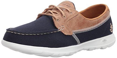Skechers Women's GO Walk LITE-Coral Boat Shoes, Blue (Navy NVY), 7 (40 EU)
