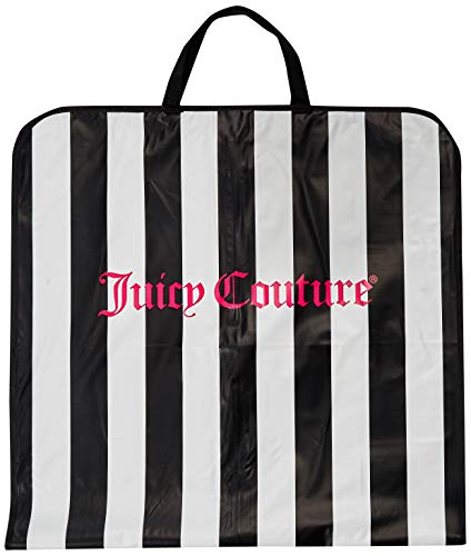 Juicy Couture Garment Bag Dress, Suit, Gown Carrier Travel Tote Black White
