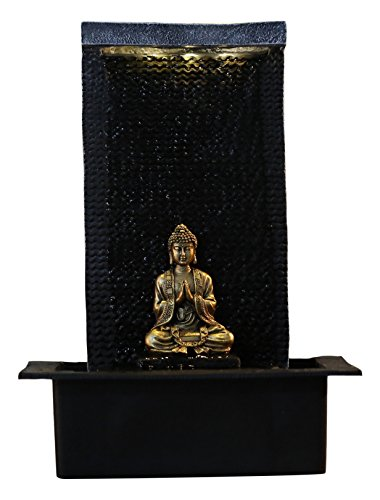 Zen Light ZENITUDE Fontana in poliresina, Dimensioni: 31 x 31 x 42 cm, Colore: Nero