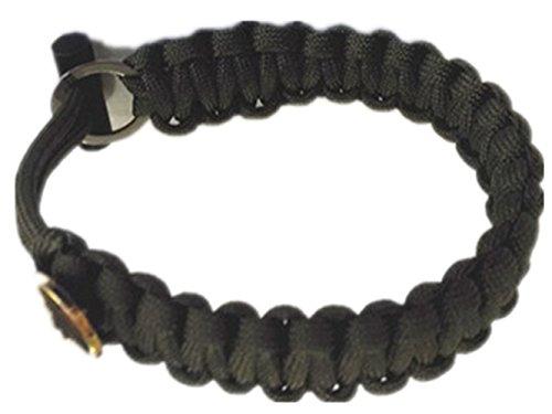 Noga Army Fans Accessoires Outdoor Emergency Parachute Cord Survival Bracelet avec Magnesium Rod (armée Verte)