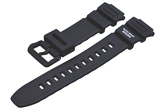 Casio 10302043 - Cinturino per orologio, unisex, resina, colore: nero