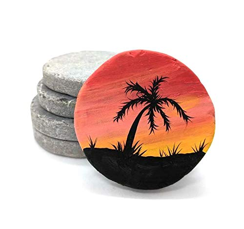 Capcouriers Flat Rocks (Bulk Set 30) - Extremely Smooth Rock Canvases - Double Sided Painting Canvases - 2 inches in Length