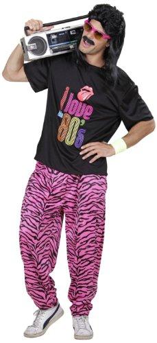 Widmann 9886R - Kostüm 80er Fashion Junge, T-Shirt und weite Hose, angenehmer Tragekomfort, Assi, Retro Style, Bad Taste Party, 80ies, Karneval, Mottoparty