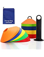 SHUIBIAN Voetbalhoedje markeerkappen disc kegel behendigheid trainingskegel voetbal trainingsaccessoires (set van 20 of 50, gemengde kleur)