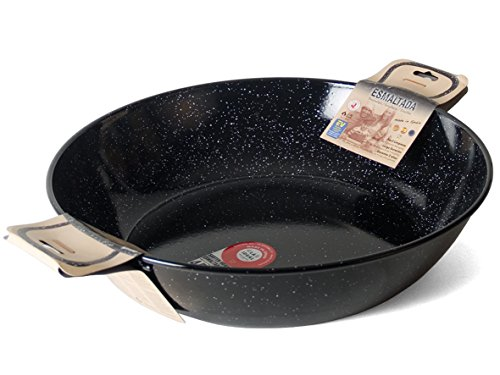 Garcima La Ideal Enamelled Steel Paella Deep Pan 50cm