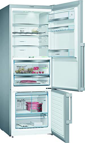 Bosch KGF56PIDP Serie 8 Réfrigérateur congélateur XXL autoportant/A+++ / 193 x 70 cm / 216 kWh/an/Inox anti-traces de doigts/réfrigérateur 375 L/congélateur 105 L/NoFrost/VitaFresh pro
