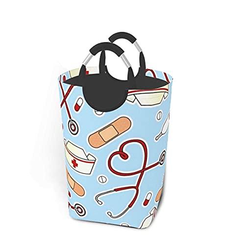 IUBBKI Cesto de lavandería de 50L con contenedores de Almacenamiento Plegables Durable y fácil de Usar en dormitorios universitarios Dormitorio de niños Baño Oficina en casa