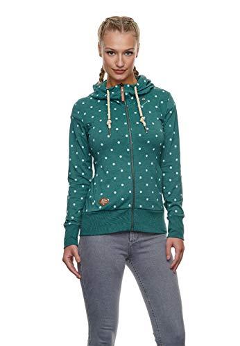 Ragwear Zipper Damen PAYA DOTS 2111-30039 Grün 5021 Dark Green, Größe:M