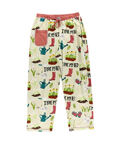Lazy One Pajamas for Women, Cute Pajama Pants and Top Separates, I Love My Bed, Flowers, Gardening, Garden, Spring