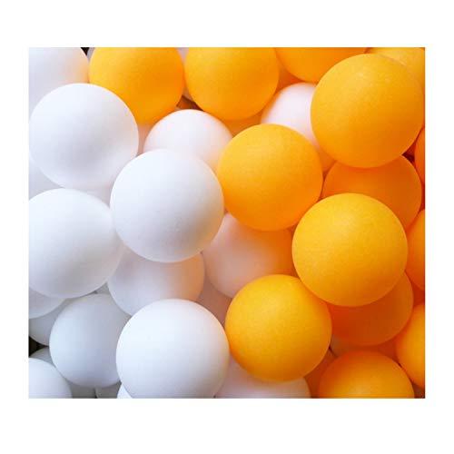 卓球ボール ピンポン玉 プラスチックボール 収納袋付き レジャー用 オレンジ ホワイト (07 レジャー用 オレンジ・ホワイト 各100個)