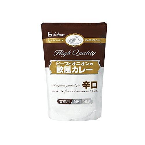 【常温】 ハウス ビーフ と オニオン 欧風カレー 辛口 3kg 業務用 レトルトカレー