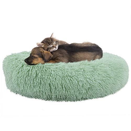 Cama De Buñuelo De Peluche Suave Cama Redonda Cama para Dormir Cat Puppy Pet Invierno DE Invierno Sofa Caliente Cojín De Lazo