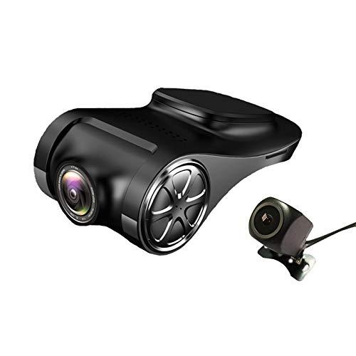 Ctzrzyt Grabador de Coche USB con CáMara de Salpicadero VisióN Nocturna SúPer Ligera ADAS ConduccióN Perro ElectróNico AleacióN de Zinc DVR Dash CAM U6