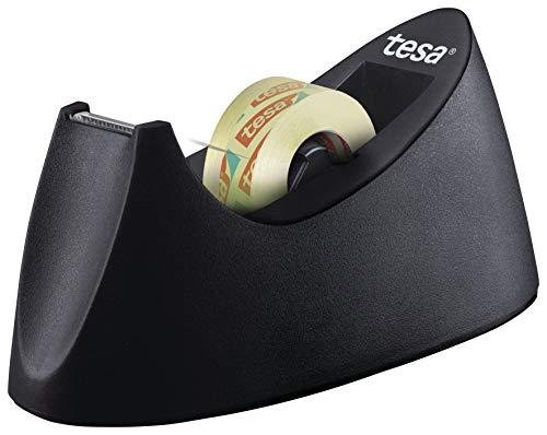 tesa 53918 Dispensador de Mesa Easy Cut Curve-Antideslizante, manejo Sencillo,