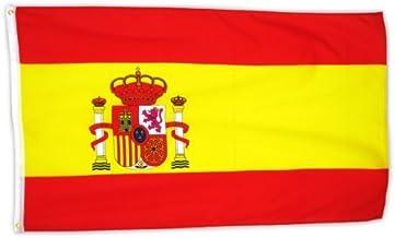 MM Spaanse vlaggen/vlag, weerbestendig, meerkleurig, 150 x 90 x 1 cm, 16302
