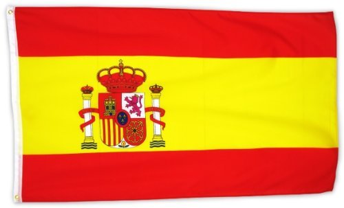 M&M MM Spanien Format: 150 x 90 cm-wetterfest Flagge/Fahne, Mehrfarbig, 150 x 90 x 1 cm