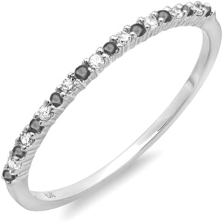 It is very popular Dazzlingrock Collection 0.15 Carat ctw Black 40% OFF Cheap Sale White And 14k Dia
