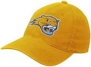 Averett Gold Flexfit Mid Profile Hat 'Cougar Head'