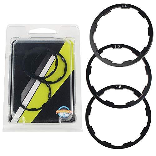 3 stuks 1 mm + 1,5 mm + 2 mm fiets wielnaaf spacer fiets trapas as ring pakking
