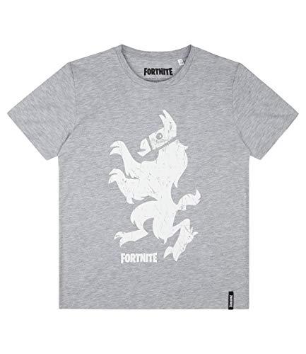 Fortnite Camiseta Manga Corta para Chicos Gris 152