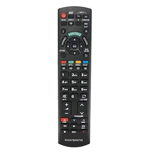 VINABTY N2QAYB000752 Mando a Distancia de Repuesto para Panasonic televisores LCD LED 3D TX-L37ET5Y TX-L42ET5E TX-L47ETW5 TX-L55ET5B TX-L55ET5E TX-P42UT50E TX-P42XT50Y TX-P50UT50E TX-PR42UT50