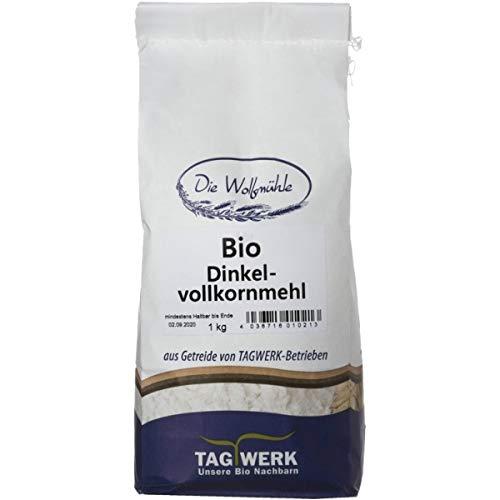 TAGWERK Dinkel-Vollkornmehl aus Bayern (1 kg) - Bio