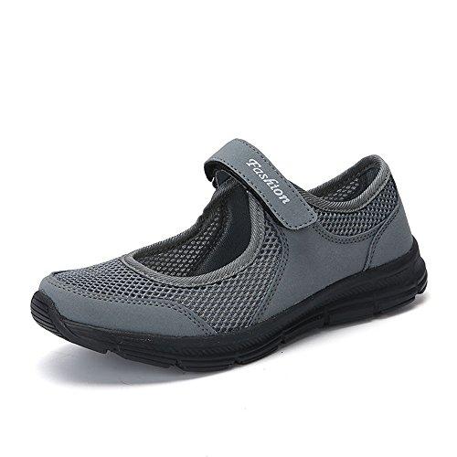 MRULIC Mode Damen Schuhe Sommer Sandalen Anti Slip Fitness Laufen Sportschuhe Prinzessin Turnschuhe(Dunkelgrau,41 EU)